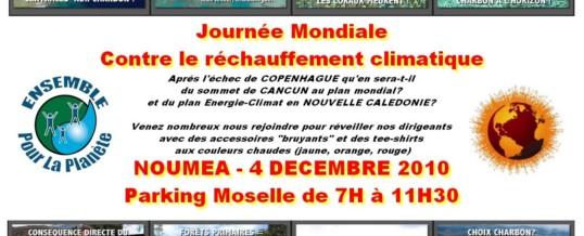 Le 4 Décembre 2010 : Journée mondiale contre le réchauffement climatique
