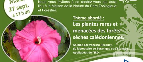Causerie sur les plantes de forêt sèche