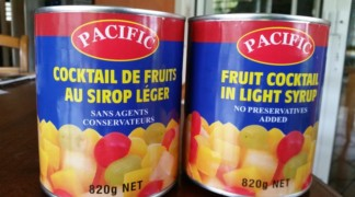 Conserves fruits au sirop Pacific–SIB , la suite…